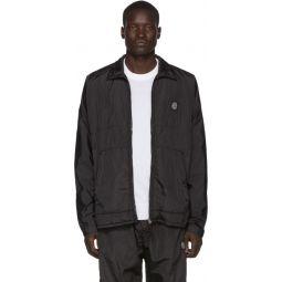 Black Nylon Metal Over Shirt Jacket