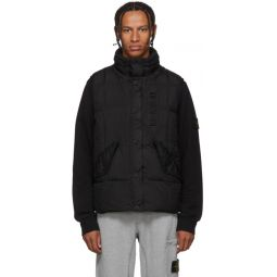Black Crinkle Reps NY-Down Jacket