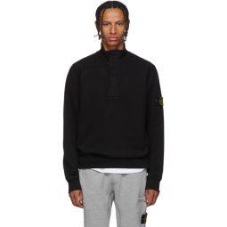 Black Mock Neck Sweatshirt