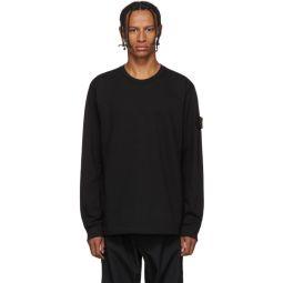 Black Crewneck Long Sleeve T-Shirt