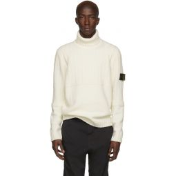 Off-White Wool Turtleneck