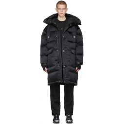 Black MMW Edition Down Fill Hooded Jacket