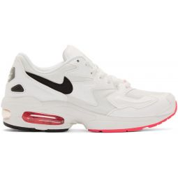 White & Pink Air Max 2 Light Sneakers