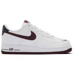 White & Burgundy Air Force 1 07 LV8 4 Sneakers