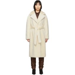 Off-White Faux-Fur Oversized Luxe Coat