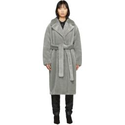 Grey Faux-Fur Oversized Luxe Coat