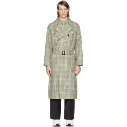 SSENSE Exclusive Green & Beige Recycled Trench Coat