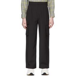 SSENSE Exclusive Black Pleated Cargo Pants