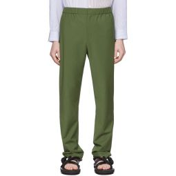 SSENSE Exclusive Green Eamon Pull-On Trousers