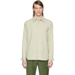 SSENSE Exclusive Green Chalky Drape Shirt