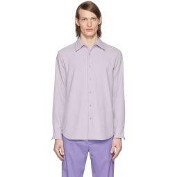 SSENSE Exclusive Purple Chalky Drape Shirt