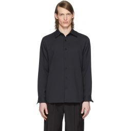 SSENSE Exclusive Black Chalky Drape Shirt