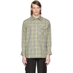 SSENSE Exclusive Green & Beige Check Recycled Utility Shirt