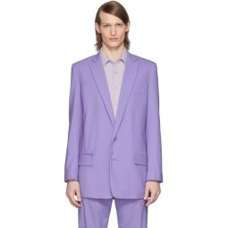 SSENSE Exclusive Purple Eamon Long Blazer