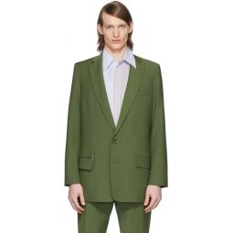 SSENSE Exclusive Green Eamon Long Blazer