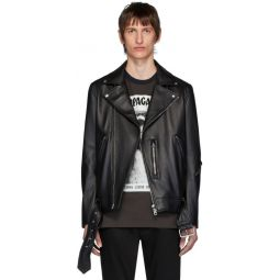 Black Leather Nate Clean Jacket