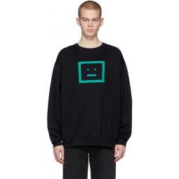Black Forba Check Face Sweatshirt