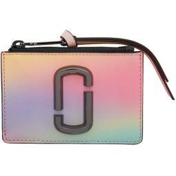 Multicolor Small Snapshot Top Zip Card Holder