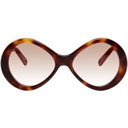 Tortoiseshell Retro Oval Sunglasses