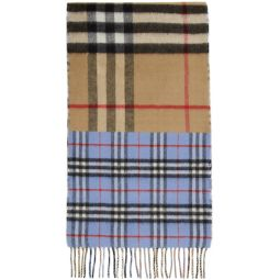Green & Blue Vintage Check To Giant Check Scarf