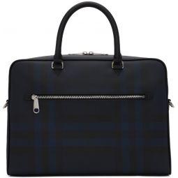 Black & Navy Check Ainsworth Briefcase