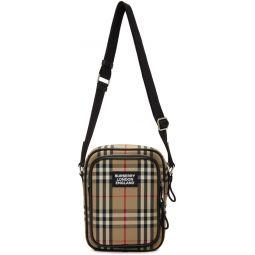 Beige Freddie Messenger Bag