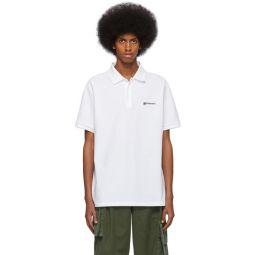 White Logo Oversized Polo
