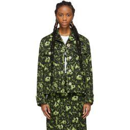 Green Camouflage Cheetah Print Jacket