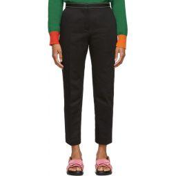 Black Crop Trousers