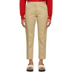 Tan Crop Trousers