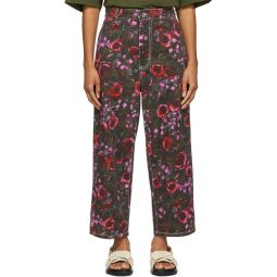 Khaki Starlight Print Trousers