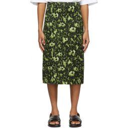 Green Camouflage Cheetah Print Skirt
