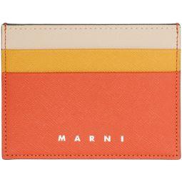 Red & Orange Colorblock Card Holder