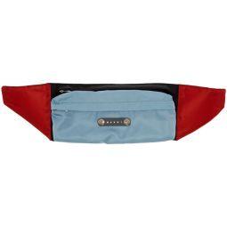 Blue & Black Colorblock Belt Bag