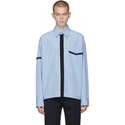 Blue Jersey Contrast Shirt