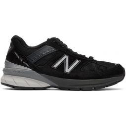 Black & Grey Made In US 990v5 Sneakers