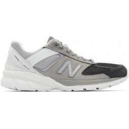 Grey & Black US Made 990v5 Sneakers