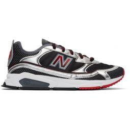 Black & Silver X-Racer Sneakers