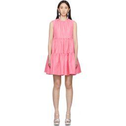 Pink Ruffle A-Line Dress