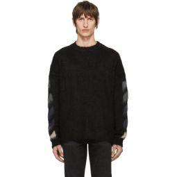 Black Brushed Diag Sweater