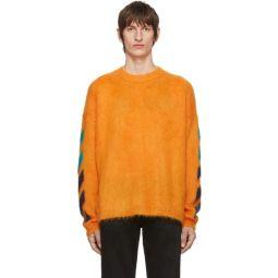 Orange Brushed Diag Sweater