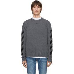 Grey Melange Arrows Sweater