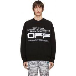 Black Wavy Line Logo Sweater