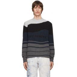 Black & Grey Intarsia Sweater