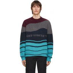 Burgundy & Navy Intarsia Sweater