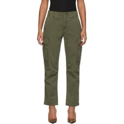 Khaki Twill Cargo Pants