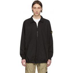 Black Pullover Overshirt Jacket