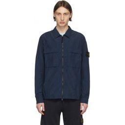 Blue Zippered Overshirt