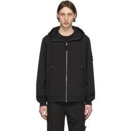 Black Soft Shell Hooded Jacket