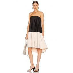 Drape Strapless Bias Dress